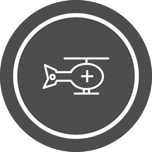 Helikopter Icon Design vektor