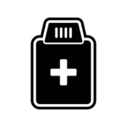 Medicin Flaska Ikon Design vektor
