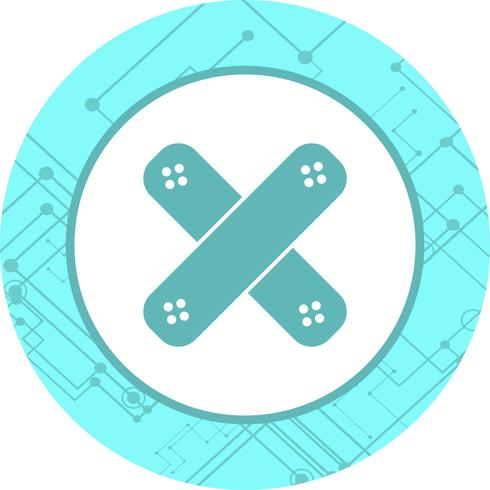 Pflaster-Icon-Design vektor