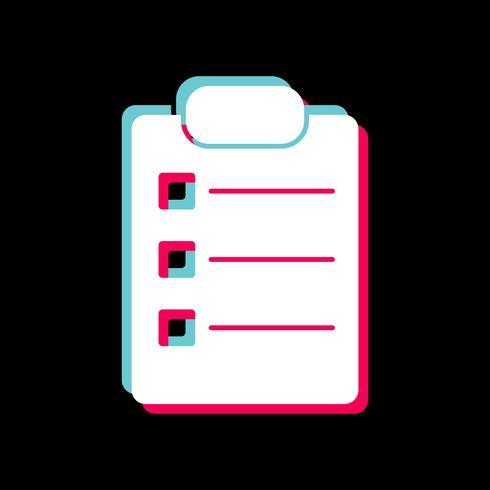 Listen-Icon-Design vektor