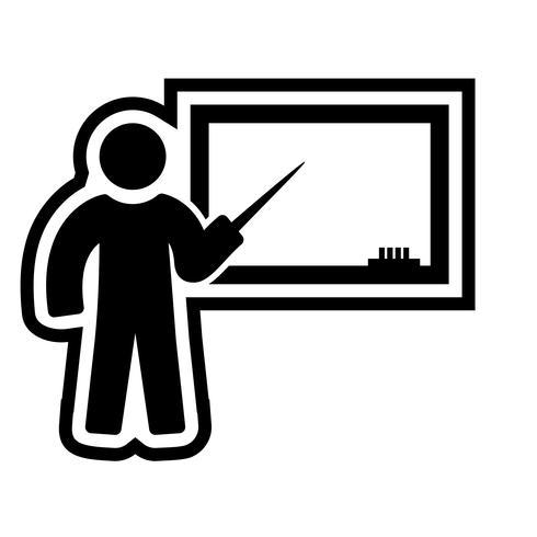 Unterricht Icon Design vektor