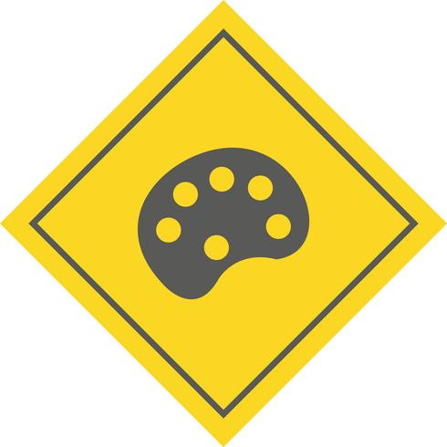 Farbpaletten-Icon-Design vektor