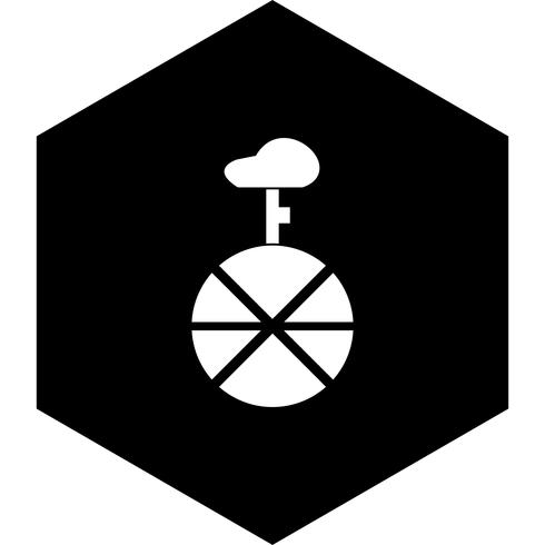 unicykel ikon design vektor