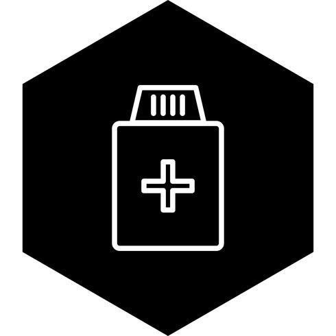 Medizin-Flaschen-Icon-Design vektor