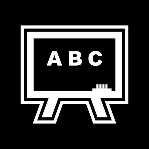 svarta tavla ikon design vektor