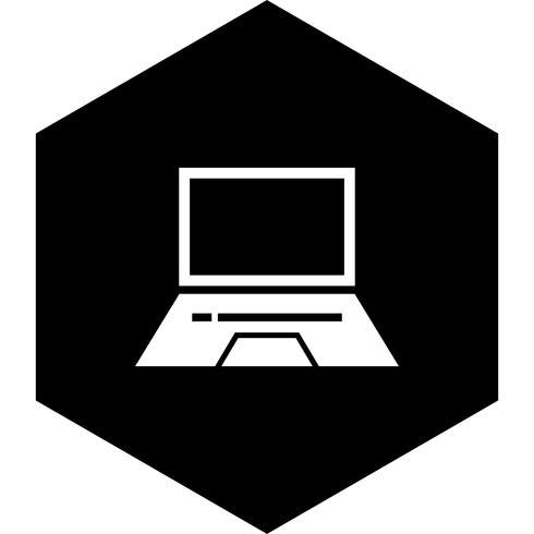 laptop ikon design vektor