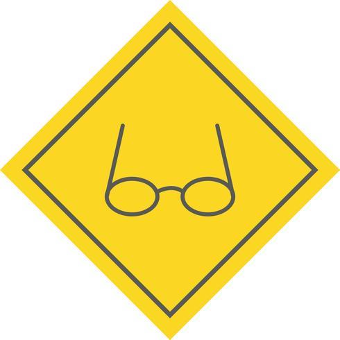 Glasögon Icon Design vektor