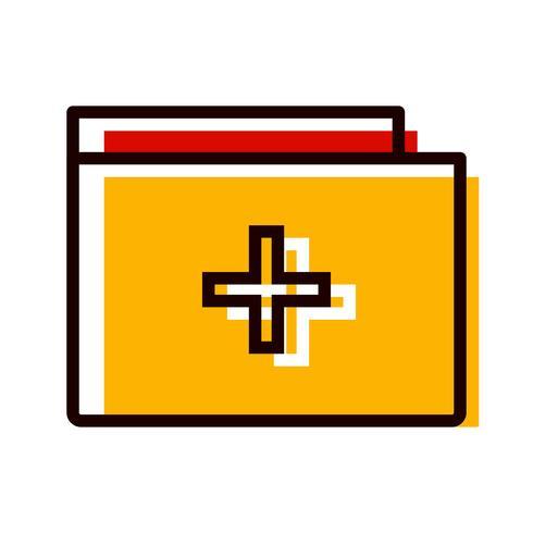 medizinische Ordner-Icon-Design vektor