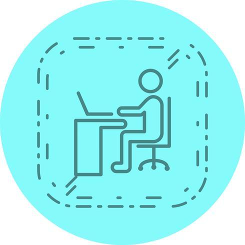 Använda bärbar ikondesign vektor