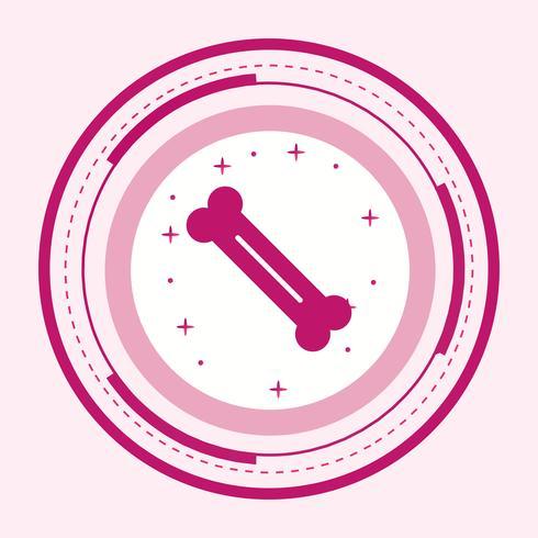 Knochen Icon Design vektor