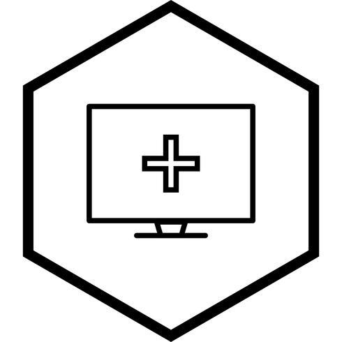 Online Medical Help Icon Design vektor