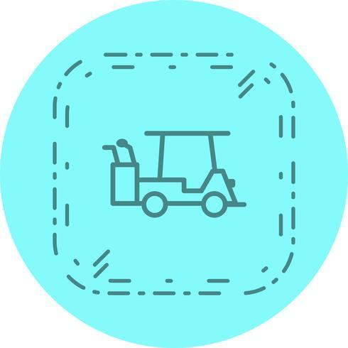 golfbil ikon design vektor