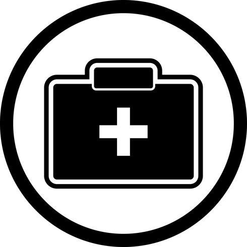 Erste-Hilfe-Kasten-Icon-Design vektor