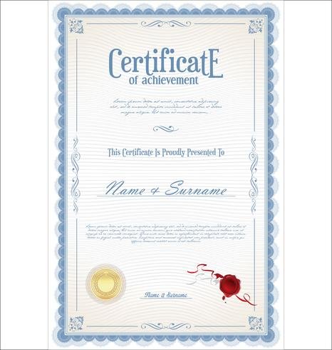Certifikat vektor