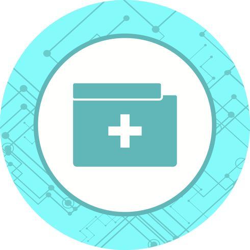 Medicinsk mapp ikondesign vektor