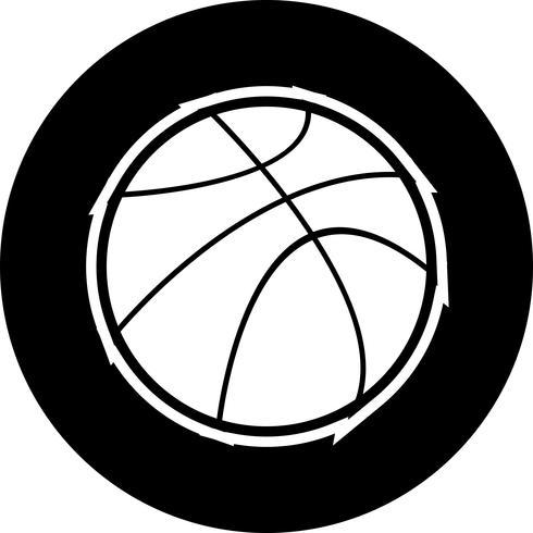 Korbball-Icon-Design vektor