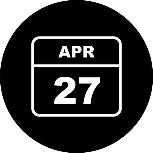 27. April Datum an einem Tageskalender vektor