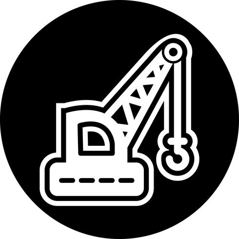 Kran-Icon-Design vektor