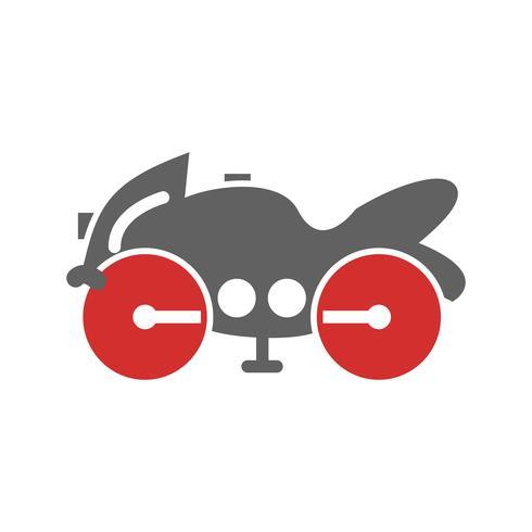 Schweres Fahrrad Icon Design vektor