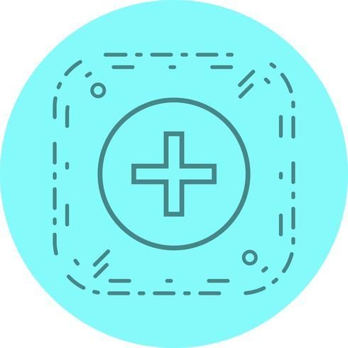 Medizinische Zeichen Icon Design vektor