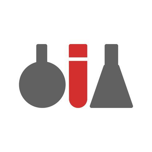 Reagenzglas-Icon-Design vektor