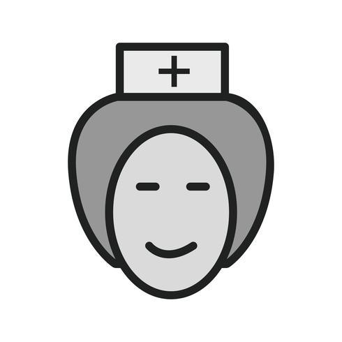 Sjuksköterska Icon Design vektor