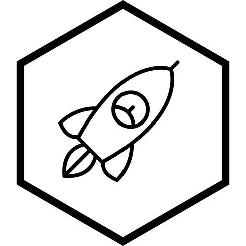 Raketen-Icon-Design vektor