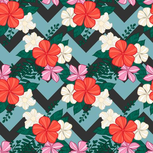 nahtloses Muster der Blume, Blumenmuster vektor