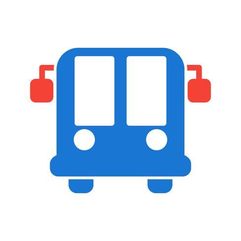 Flughafenbus-Icon-Design vektor