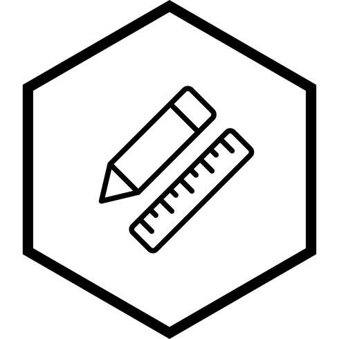 Pencil & Linjal Ikon Design vektor
