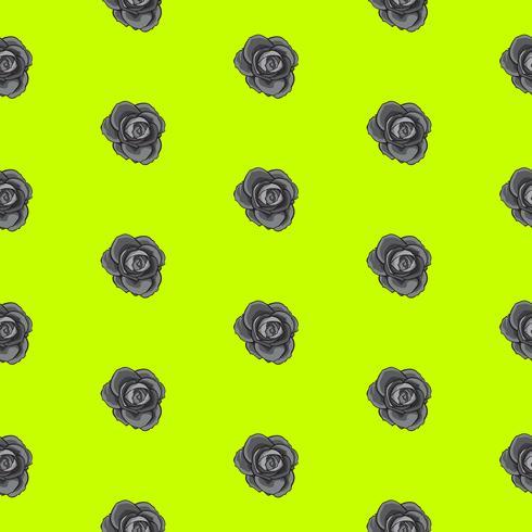 nahtloses Muster der Blumenrose, nahtloses Muster der Vektorblumenrose, Blumenhintergrund vektor