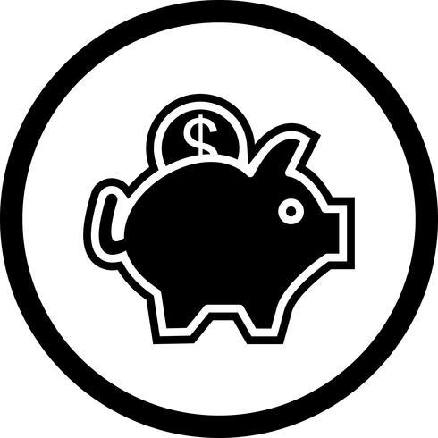 spargris ikon design vektor