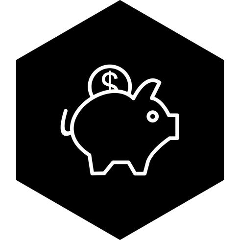 Sparschwein-Icon-Design vektor