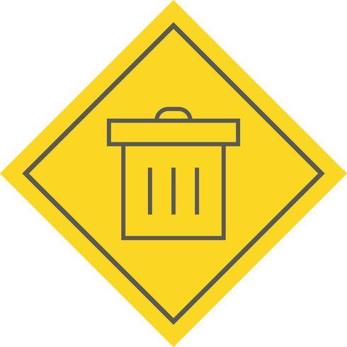 Papierkorb-Icon-Design vektor