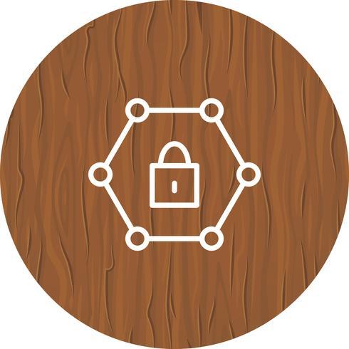 skyddad nätverksikondesign vektor