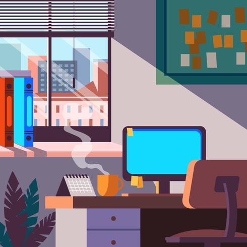 kontor plats vektor