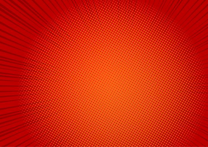 Roter Hintergrund der Pop-Art, Geschwindigkeitslinie Retro- komische Strahlenillustration - Vektor