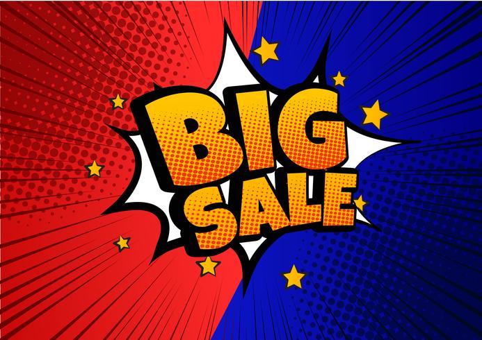 Stor försäljning komisk talbubbla design - Vector