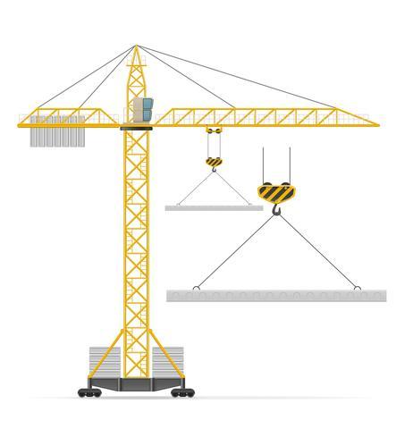 byggnad kran vektor illustration