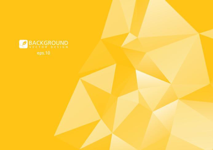 Gelber abstrakter geometrischer zerknitterter dreieckiger niedriger Polyartvektor-Illustrations-Grafikhintergrund vektor