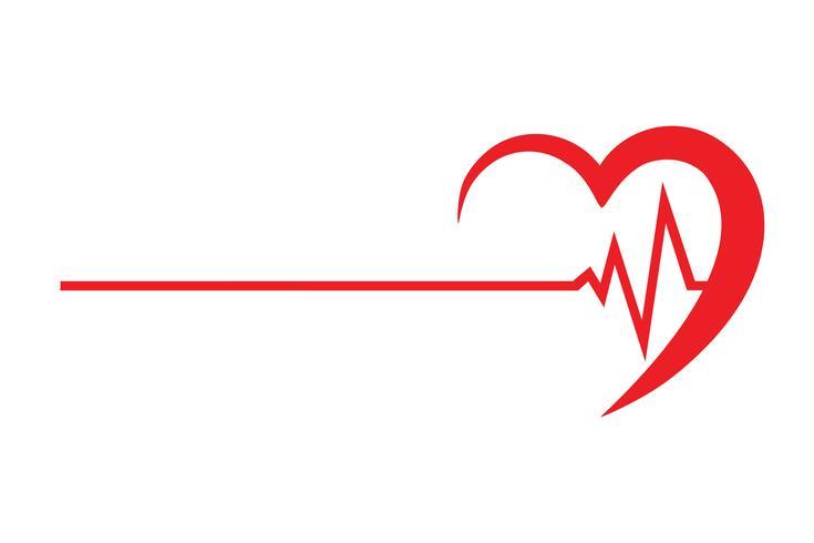 Logo für eine Herz-Klinik-Vektor-Illustration vektor