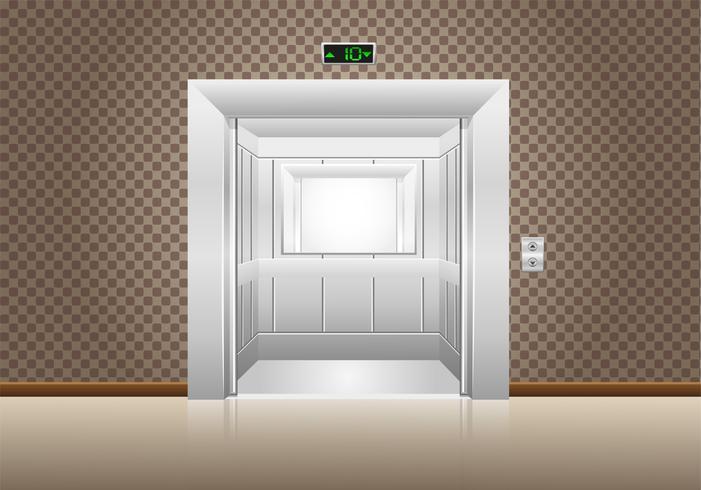 hissdörrar öppnas vektor