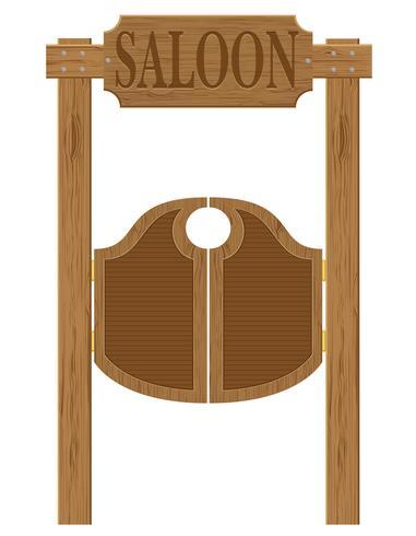 Türen im westlichen Saal Wildwest-Vektor-Illustration vektor
