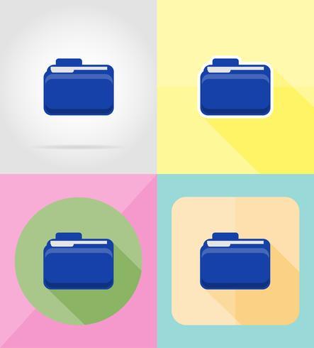 mapp platt ikoner vektor illustration