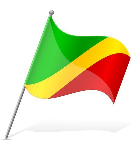 flagga av Kongo vektor illustration