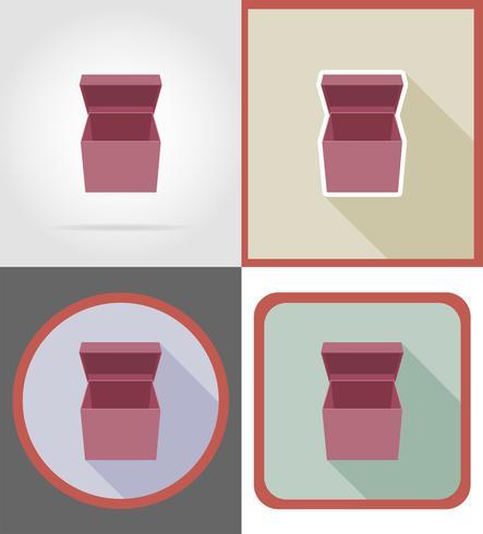 leverans kartong rutan ikoner vektor illustration