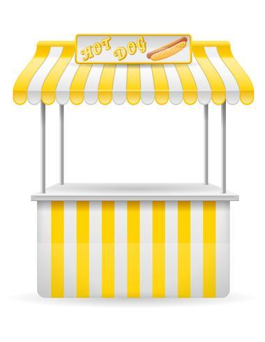Street Food Stall Hotdog-Vektor-Illustration vektor