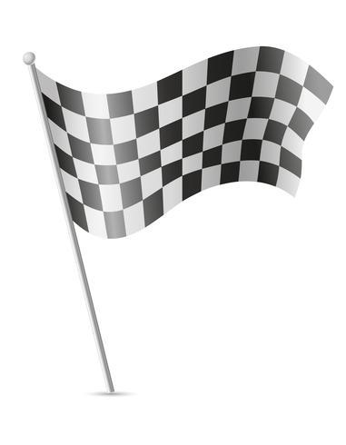 Zielflagge für Autorennen-Vektor-Illustration vektor