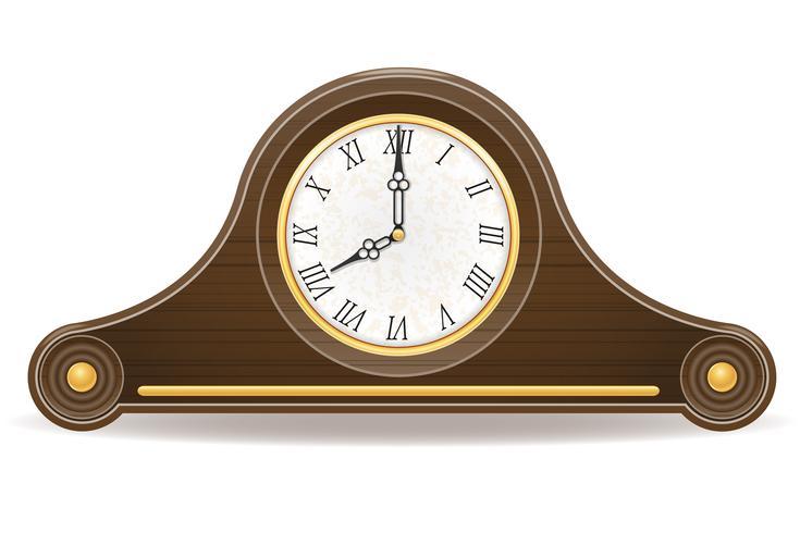 Vektorillustration der alten Vektorillustration der Uhr alte vektor