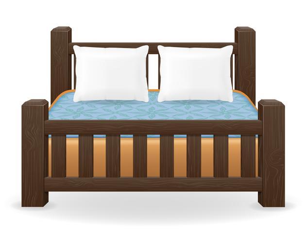 Doppelbett Möbel Vektor-Illustration vektor